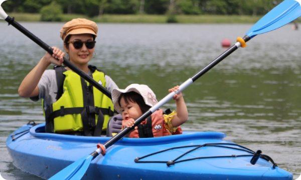 自由に白樺湖を水上散歩! カヌーレンタル